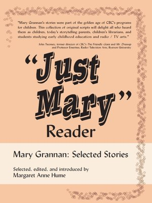 "cover image of ""Just Mary"" Reader"