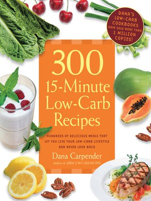 cover image of 300 15-Minute Low-Carb Recipes