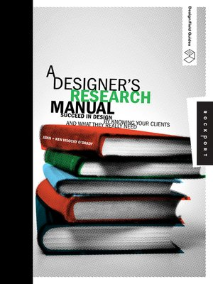 cover image of A Designer's Research Manual