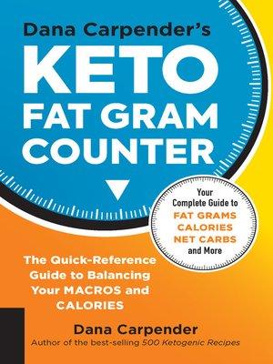 cover image of Dana Carpender's Keto Fat Gram Counter