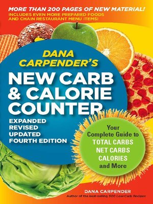 cover image of Dana Carpender's NEW Carb and Calorie Counter