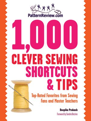 cover image of 1,000 Clever Sewing Shortcuts and Tips