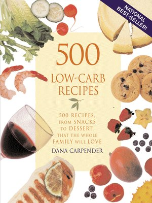 cover image of 500 Low-Carb Recipes