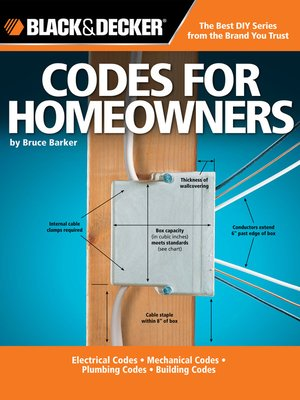Black Decker Codes For Homeowners By Bruce Barker Overdrive