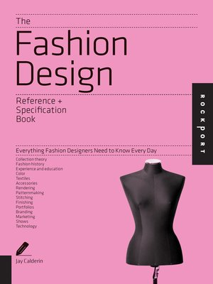 cover image of The Fashion Design Reference & Specification Book