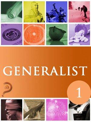 cover image of Generalist, Volume 1