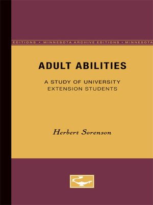 cover image of Adult Abilities