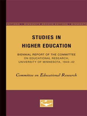 cover image of Studies in Higher Education