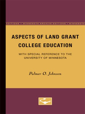 cover image of Aspects of Land Grant College Education