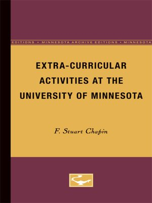 cover image of Extra-Curricular Activities at the University of Minnesota