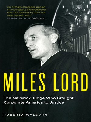 cover image of Miles Lord