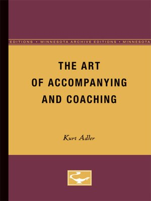 cover image of The Art of Accompanying and Coaching