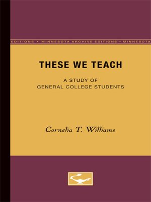 cover image of These We Teach