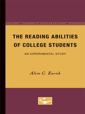 cover image of The Reading Abilities of College Students