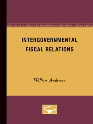 cover image of Intergovernmental Fiscal Relations