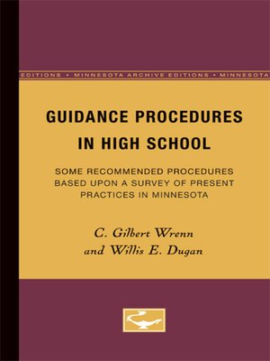 cover image of Guidance Procedures in High School