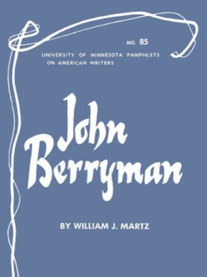 cover image of John Berryman--American Writers 85