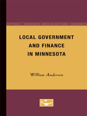 cover image of Local Government and Finance in Minnesota
