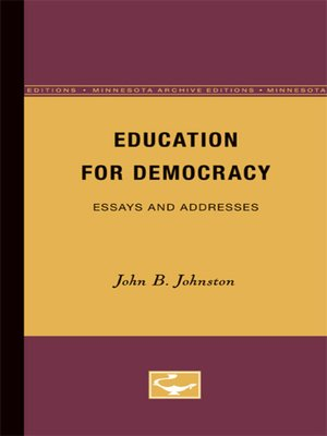 cover image of Education for Democracy