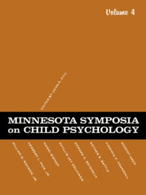 cover image of Minnesota Symposia on Child Psychology