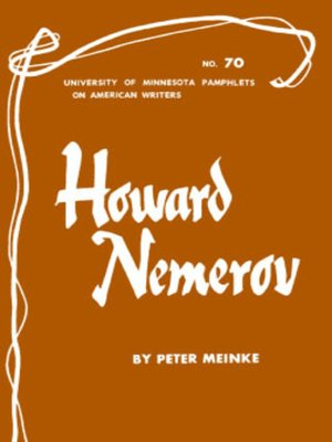 cover image of Howard Nemerov--American Writers 70