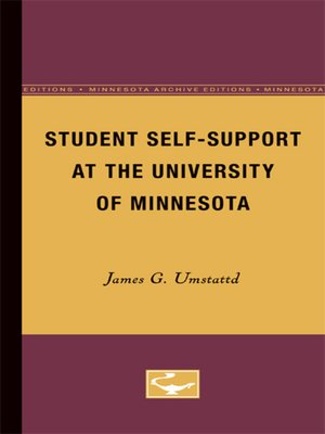 cover image of Student Self-Support at the University of Minnesota