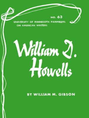 cover image of William D. Howells - American Writers 63