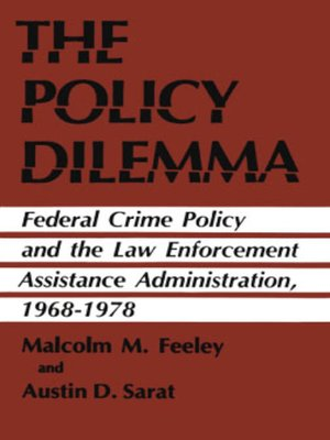 cover image of The Policy Dilemma