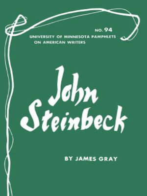 cover image of John Steinbeck--American Writers 94