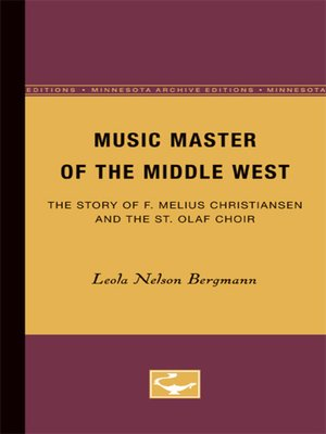 cover image of Music Master of the Middle West