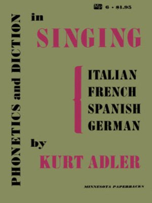cover image of Phonetics and Diction in Singing