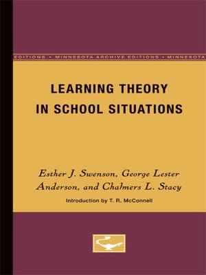 cover image of Learning Theory in School Situations