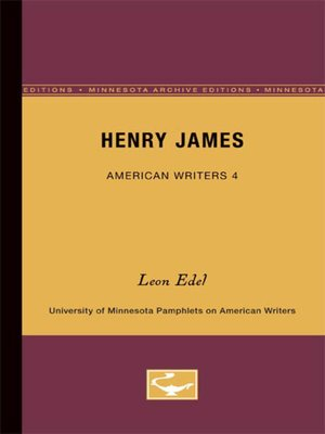 cover image of Henry James--American Writers 4