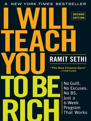 cover image of I Will Teach You to Be Rich