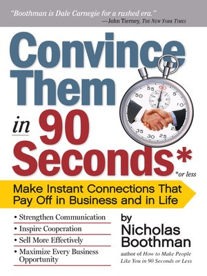 convince them in 90 seconds or less ebook