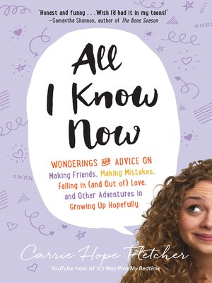cover image of All I Know Now