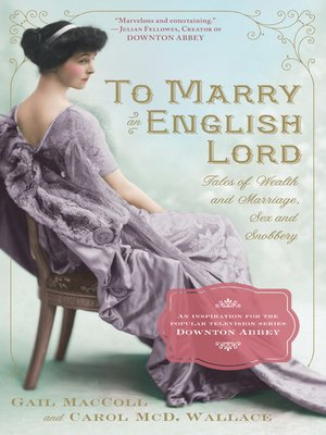 cover image of To Marry an English Lord