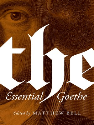 cover image of The Essential Goethe