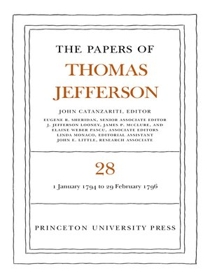 cover image of The Papers of Thomas Jefferson, Volume 28