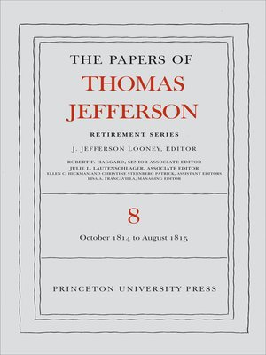cover image of The Papers of Thomas Jefferson, Retirement Series, Volume 8
