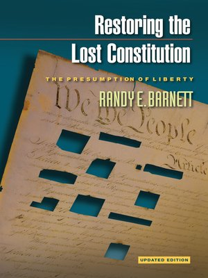 cover image of Restoring the Lost Constitution