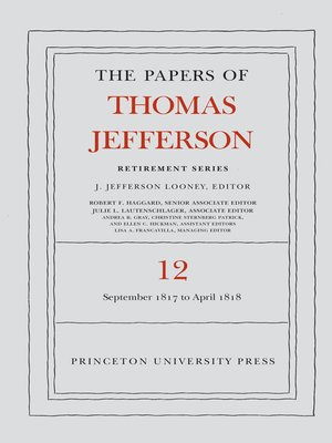 cover image of The Papers of Thomas Jefferson: Retirement Series, Volume 12