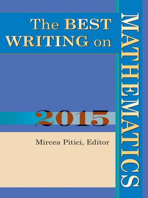 cover image of The Best Writing on Mathematics 2015