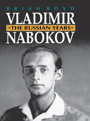 cover image of Vladimir Nabokov, The Russian Years