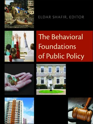 cover image of The Behavioral Foundations of Public Policy