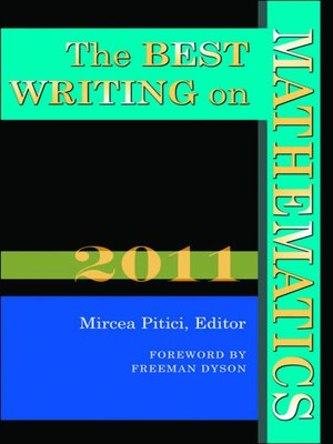 cover image of The Best Writing on Mathematics 2011