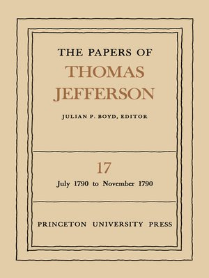 cover image of The Papers of Thomas Jefferson, Volume 17