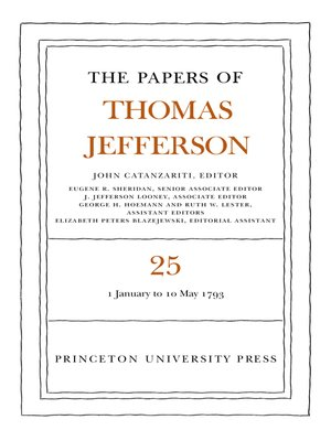 cover image of The Papers of Thomas Jefferson, Volume 25