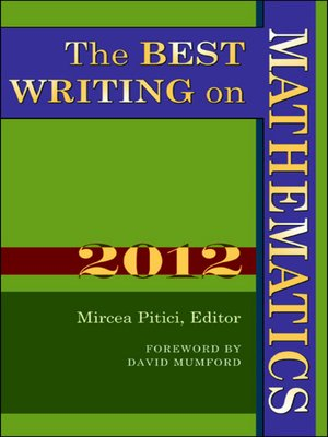 cover image of The Best Writing on Mathematics 2012