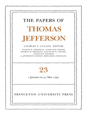 cover image of The Papers of Thomas Jefferson, Volume 23